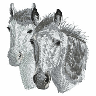Pares del perfil del caballo sudadera bordada