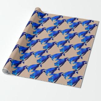 Pares del pingüino papel de regalo