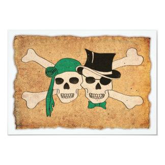 """pares del pirata invitación 3.5"""" x 5"""""""