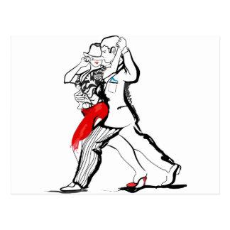Pares del tango tarjetas postales