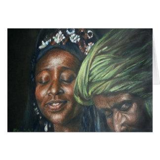 Pares del Tuareg Tarjeta De Felicitación