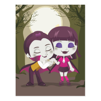 Pares del vampiro tarjetas postales