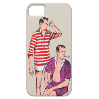 Pares del vintage 50s de hombres de hombres iPhone 5 Case-Mate protector