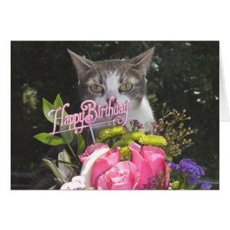 Pares distanciados divertidos del feliz cumpleaños tarjeta de felicitación