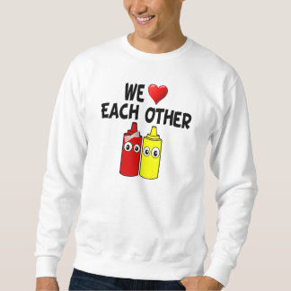 Pares divertidos de la salsa de tomate de la suéter