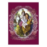 """Pares divinos Radha Krishna Invitación 4.5"""" X 6.25"""""""