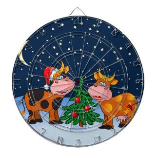 Pares dulces de la vaca de las Felices Navidad por Tabla Dardos