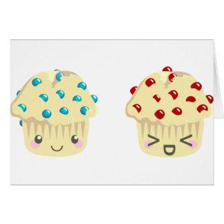 Pares dulces y agrios del mollete tarjeta de felicitación