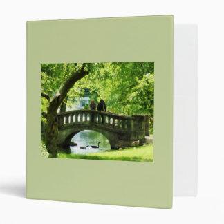 Pares en el puente en parque