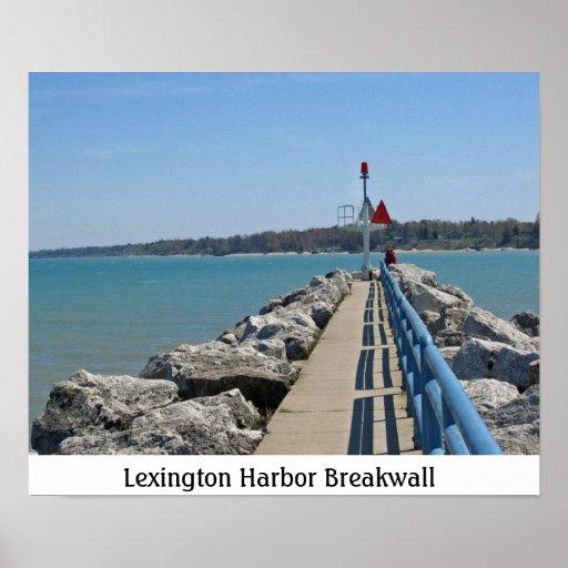 Pares en el puerto de Lexington Posters