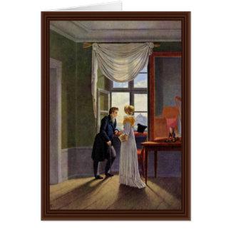 Pares en la ventana de Kersting Jorge Friedrich Tarjeta De Felicitación