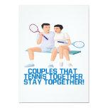 Pares ese tenis junto invitación 12,7 x 17,8 cm
