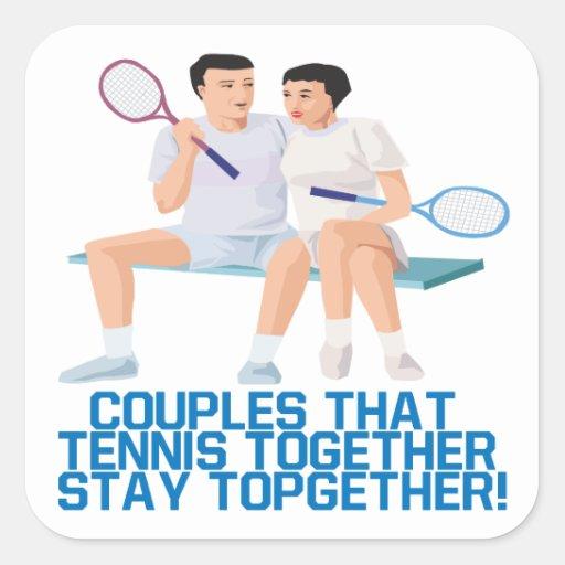 Pares ese tenis junto pegatina cuadrada