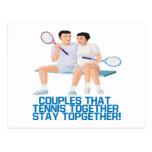 Pares ese tenis junto tarjeta postal