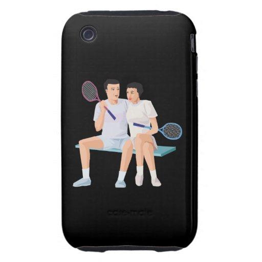 Pares ese tenis junto tough iPhone 3 funda