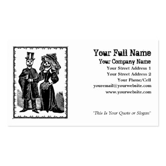 Pares esqueléticos - tarjeta de visita (personaliz