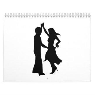 Pares estándar del baile calendarios de pared