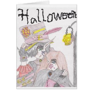 Pares fantasmagóricos de Halloween Tarjetón