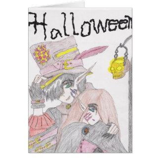 Pares fantasmagóricos de Halloween Tarjeton