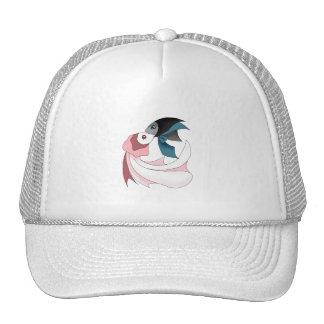 Pares felices del gorra de los pescados