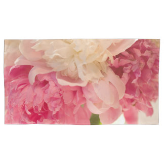 Pares florales rosados de fundas de almohada, funda de cojín