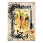 Pares franceses en la invitación de la tarjeta del invitación 12,7 x 17,8 cm