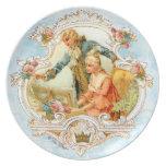 Pares franceses románticos del siglo XVIII en Harp Plato Para Fiesta