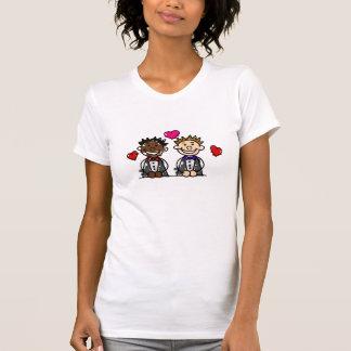 Pares gay BI-Raciales Camiseta