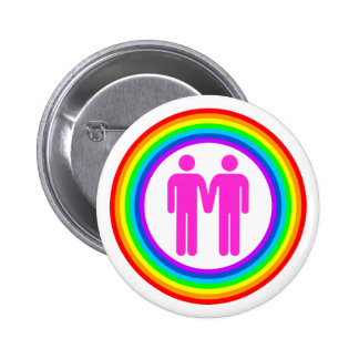 Pares gay del arco iris pin