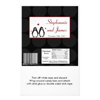 """Pares grandes del amor del pingüino de la envoltur folleto 5.5"""" x 8.5"""""""
