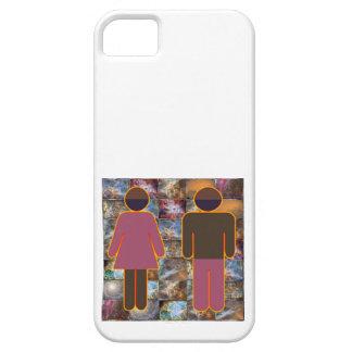 Pares hermosos - indicador hembra-varón iPhone 5 Case-Mate protectores