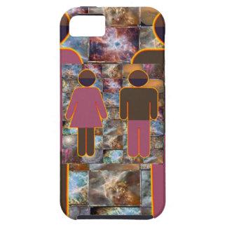 Pares hermosos - indicador hembra-varón iPhone 5 carcasa