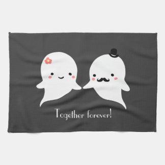 Pares lindos adaptables del fantasma toalla