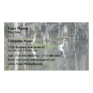 Pares lindos de garzas de Luisiana en agua cerca Tarjetas De Visita