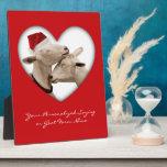 Pares lindos de la cabra del navidad placa de madera