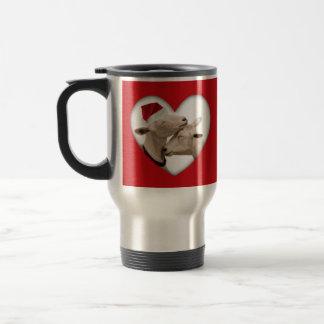 Pares lindos de la cabra del navidad taza térmica