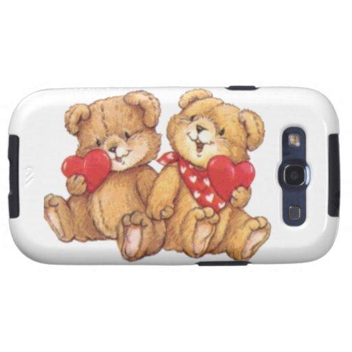 Pares lindos de la tarjeta del día de San Valentín Samsung Galaxy S3 Funda