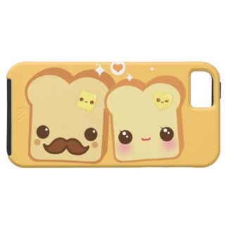 Pares lindos de las tostadas de Kawaii iPhone 5 Carcasas