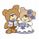 pares lindos del boda del oso de peluche del litte escultura fotográfica