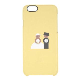 Pares lindos del boda funda clearly™ deflector para iPhone 6 de uncommon