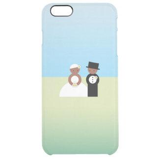Pares lindos del boda funda clearly™ deflector para iPhone 6 plus de unc