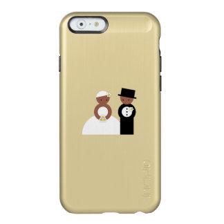 Pares lindos del boda funda para iPhone 6 plus incipio feather shine