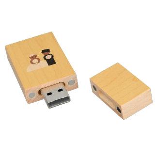 Pares lindos del boda memoria USB 2.0 de madera