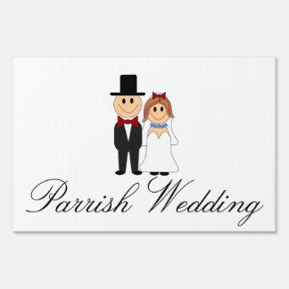 Pares lindos del boda señales