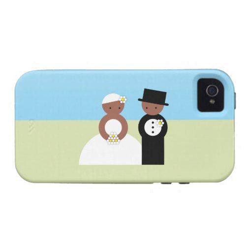 Pares lindos del boda vibe iPhone 4 carcasa