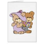 pares lindos del oso de peluche de la fecha de la tarjeta de felicitación