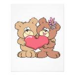 pares lindos del oso de peluche del corazón de la  invitaciones personales