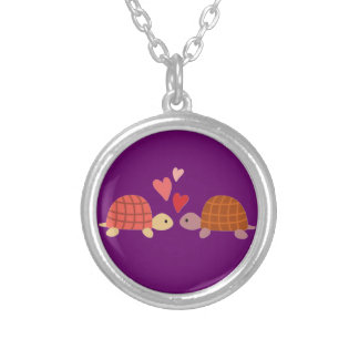 Pares lindos rosados del amor de la tortuga joyeria