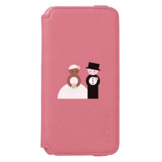 Pares mezclados lindos del boda funda billetera para iPhone 6 watson