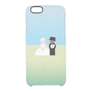 Pares mezclados lindos del boda funda clearly™ deflector para iPhone 6 de uncommon